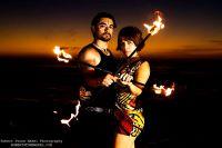 circus fire acrobat